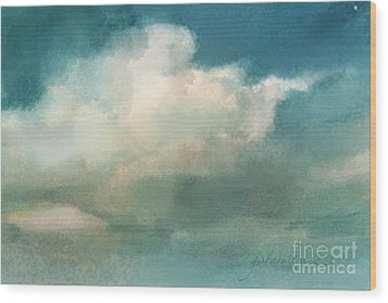 Cloud Diptych Right Wood Print by Joan A Hamilton