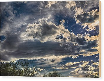 Wood Print featuring the photograph Cloud Drama by Mark Myhaver