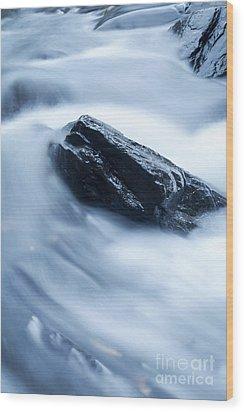 Cloud Falls Wood Print by Edward Fielding