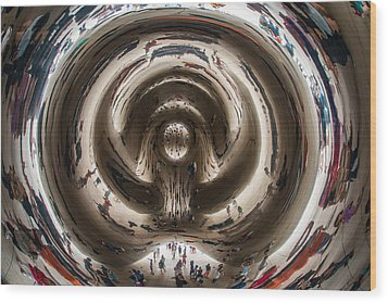 Wood Print featuring the photograph Cloud Gate  by James Howe