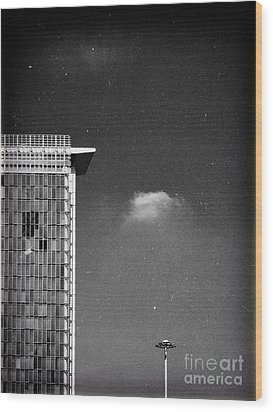 Wood Print featuring the photograph Cloud Lamp Building by Silvia Ganora