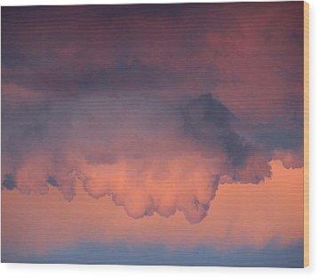 Cloud Man Wood Print