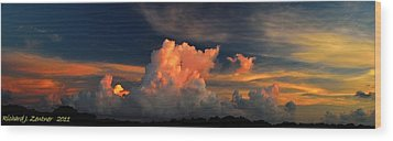 Wood Print featuring the photograph Cloud Panorama by Richard Zentner