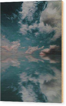Wood Print featuring the photograph Cloud Reflections by John Stuart Webbstock