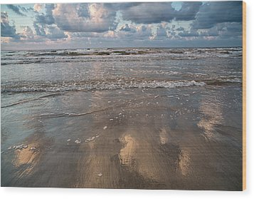 Wood Print featuring the photograph Cloud Reflections by Sharon Jones