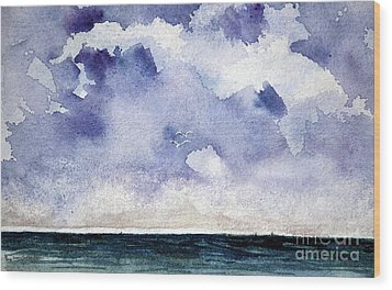 Cloud Regatta Wood Print