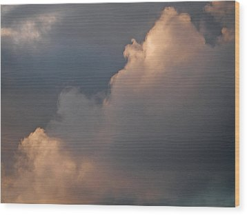 Wood Print featuring the photograph Cloud Study 2 by Laurie Stewart