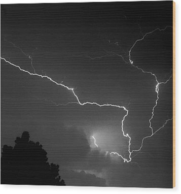Cloud To Cloud Discharge IIi. Wood Print