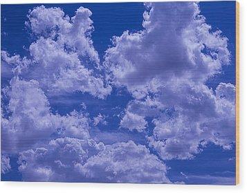 Cloud Watching Wood Print by Garry Gay