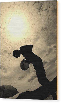 Wood Print featuring the photograph Cloudburn by Maria  Disley