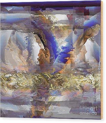 Cloudburst Wood Print by Ursula Freer