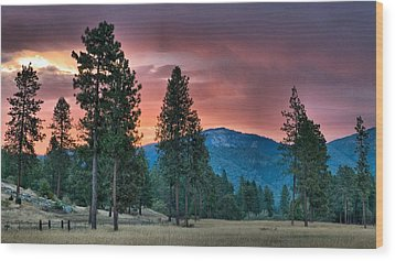 Wood Print featuring the photograph Clouded Sunrise by Julia Hassett