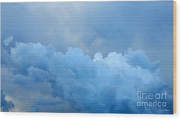 Clouds 2 Wood Print by Leanne Seymour