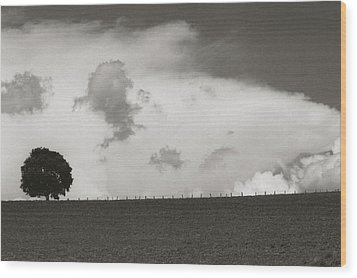 Clouds Wood Print by Amarildo Correa