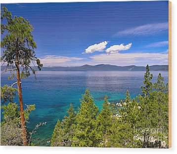 Clouds And Silence - Lake Tahoe Wood Print