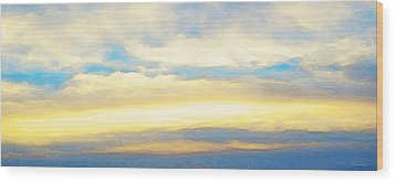 Clouds By Sharon Cummings Wood Print by Abstract Art