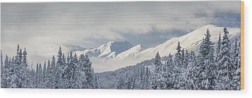 Clouds Clearing From The Kenai Wood Print by Kevin Smith