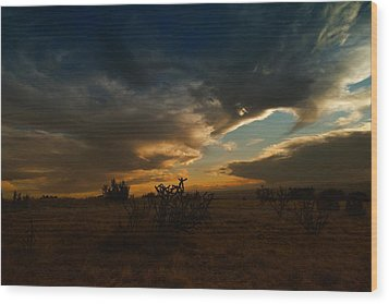 Clouds In New Mexico Wood Print by Jeff Swan