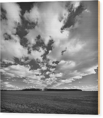 Clouds In The Heartland Wood Print by Dick Wood
