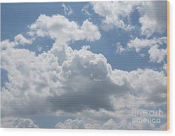 Clouds Wood Print by Kay Pickens