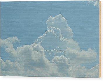 Clouds Wood Print by Kiros Berhane