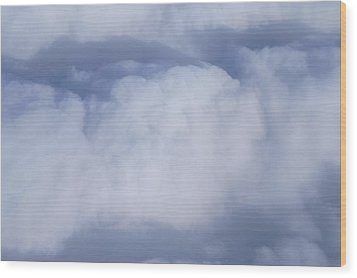 Clouds Wood Print by Kristine Bogdanovich