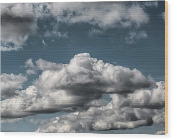 Wood Print featuring the photograph Clouds by Leif Sohlman