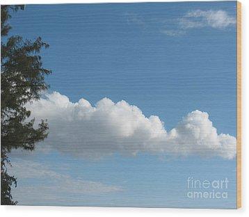 Clouds - Nuages - Ile De La Reunion - Reunion Island Wood Print by Francoise Leandre
