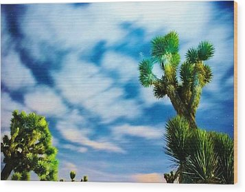 Wood Print featuring the photograph Clouds On The Move by Angela J Wright