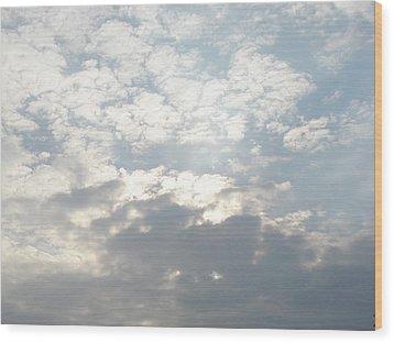 Clouds One Wood Print