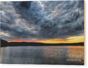 Wood Print featuring the photograph Clouds Over Big Twin Lake by Trey Foerster