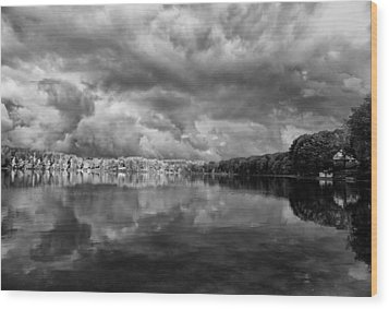 Clouds Over Crystal Lake Wood Print by Kevin Kludy