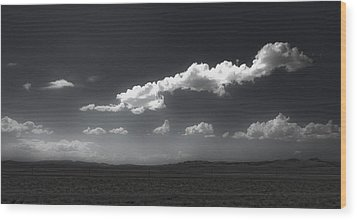 Clouds Over Fallon Nevada Wood Print by Gregory Dyer
