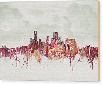 Clouds Over Houston Texas Usa Wood Print by Aged Pixel
