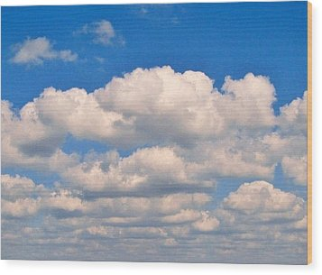 Clouds Over Lake Pontchartrain Wood Print by Deborah Lacoste
