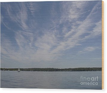 Wood Print featuring the photograph Clouds Over Long Island Sound by John Telfer