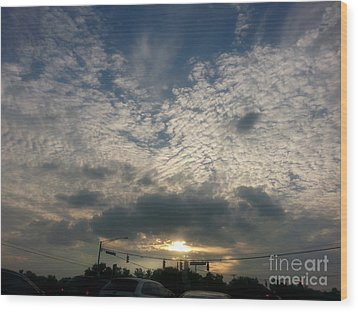 Wood Print featuring the photograph Clouds Over Maryland by Emmy Marie Vickers