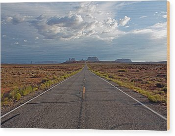 Clouds Over Monument Valley Wood Print by Chris Flack Desert Images