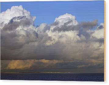 Clouds Over Portsmouth Wood Print by Tony Murtagh
