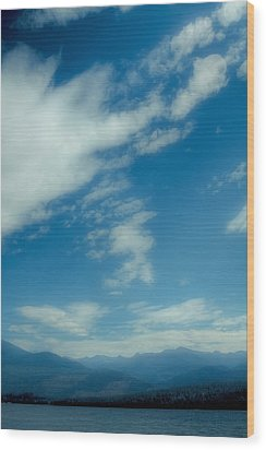 Clouds Over Priest Lake Wood Print by David Patterson