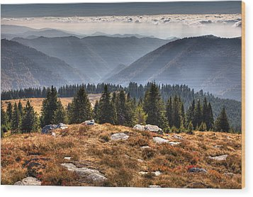 Clouds Over Romania Wood Print by Daniel Alexandrescu