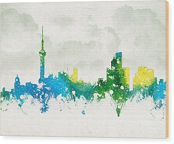 Clouds Over Shanghai China Wood Print by Aged Pixel
