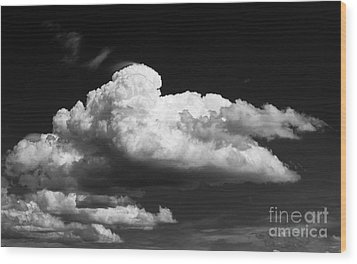 Clouds Over The Palouse Wood Print