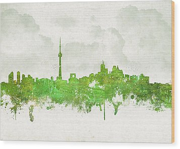 Clouds Over Toronto Canada Wood Print by Aged Pixel