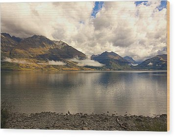 Wood Print featuring the photograph Clouds Over Wakatipu #1 by Stuart Litoff