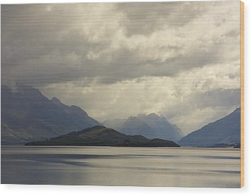Wood Print featuring the photograph Clouds Over Wakatipu #2 by Stuart Litoff