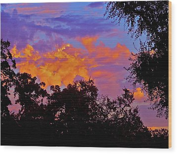 Wood Print featuring the photograph Clouds by Pamela Cooper