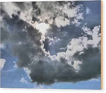 Wood Print featuring the photograph Clouds by Winifred Butler