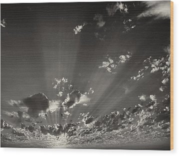 Cloudscape Wood Print by Tom Druin