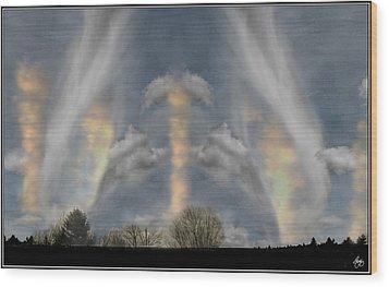 Cloudsweep Wood Print